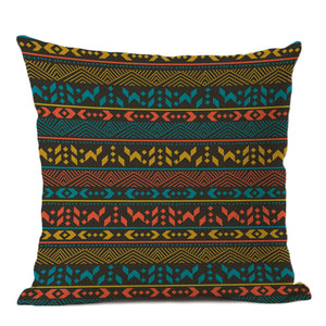 African pillow cover | Blue red tribal - Decorative pillow 45x45cm