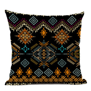 African pillow cover | Black Yellow tribal style - Decorative pillow 45x45cm