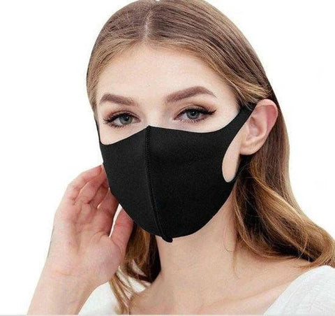 Black face mask / mouth mask - Washable