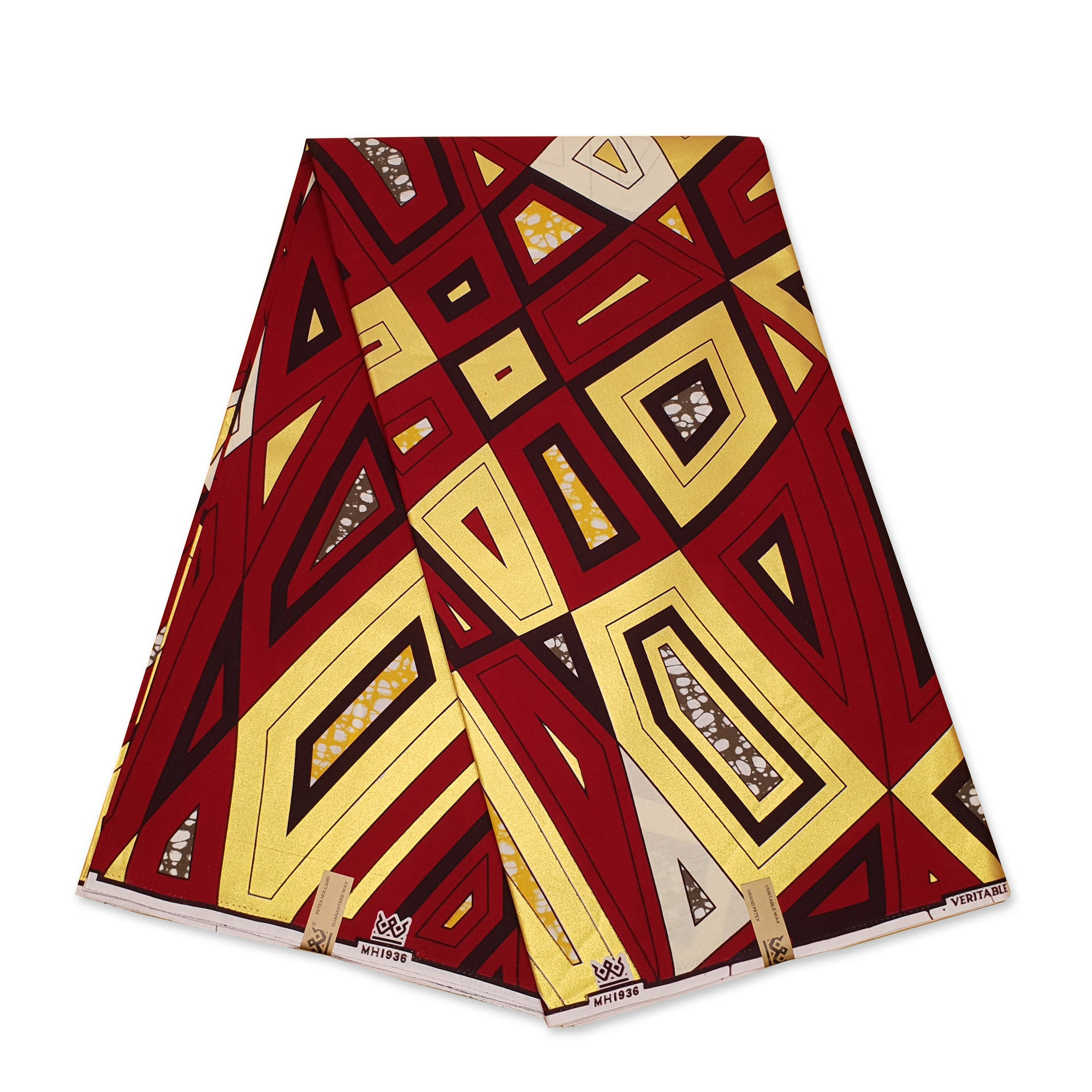African Wax print fabric YELLOW GOLD PANTHER SPOTS - Gold embellished