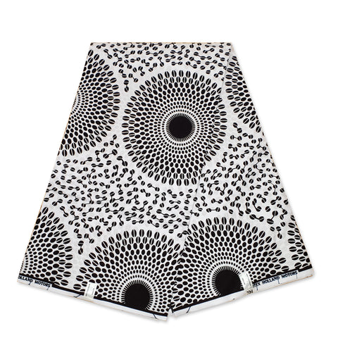 African Wax print fabric - Purple Pink Puzzle