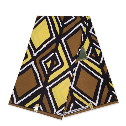 African GREEN SAMAKAKA ANGOLA Wax print fabric / cloth (Traditional Samacaca)