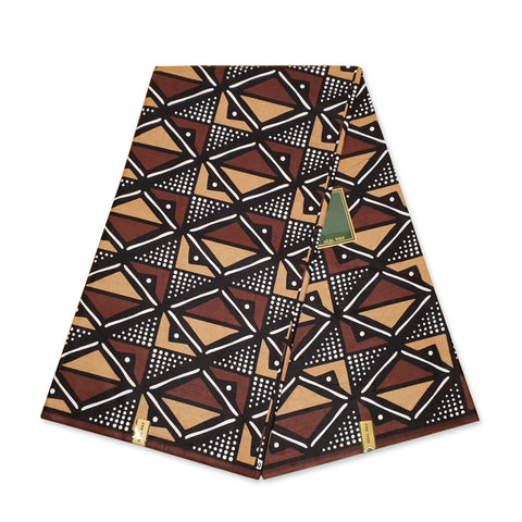 African RED / GREEN SAMAKAKA ANGOLA Wax print fabric / cloth (Traditional Samacaca)