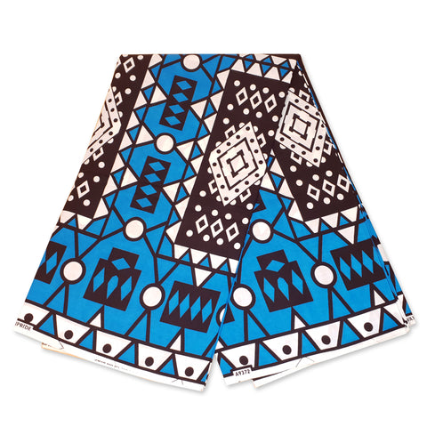 African LIGHT BLUE / ICE BLUE SAMAKAKA ANGOLA Wax print fabric / cloth (High quality) (Traditional Samacaca)