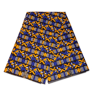 African Blue Yellow BOGOLAN / MUD CLOTH print fabric / cloth (Traditional Mali)