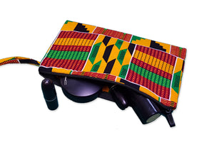 African print Makeup pouch / Pencil case - Kente style 2