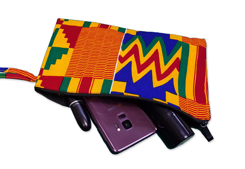 African print Makeup pouch / Pencil case - Kente style 5