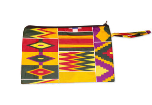 African print Makeup pouch / Pencil case - Kente style 6