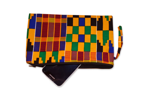 African print Makeup pouch / Pencil case - Kente style 7