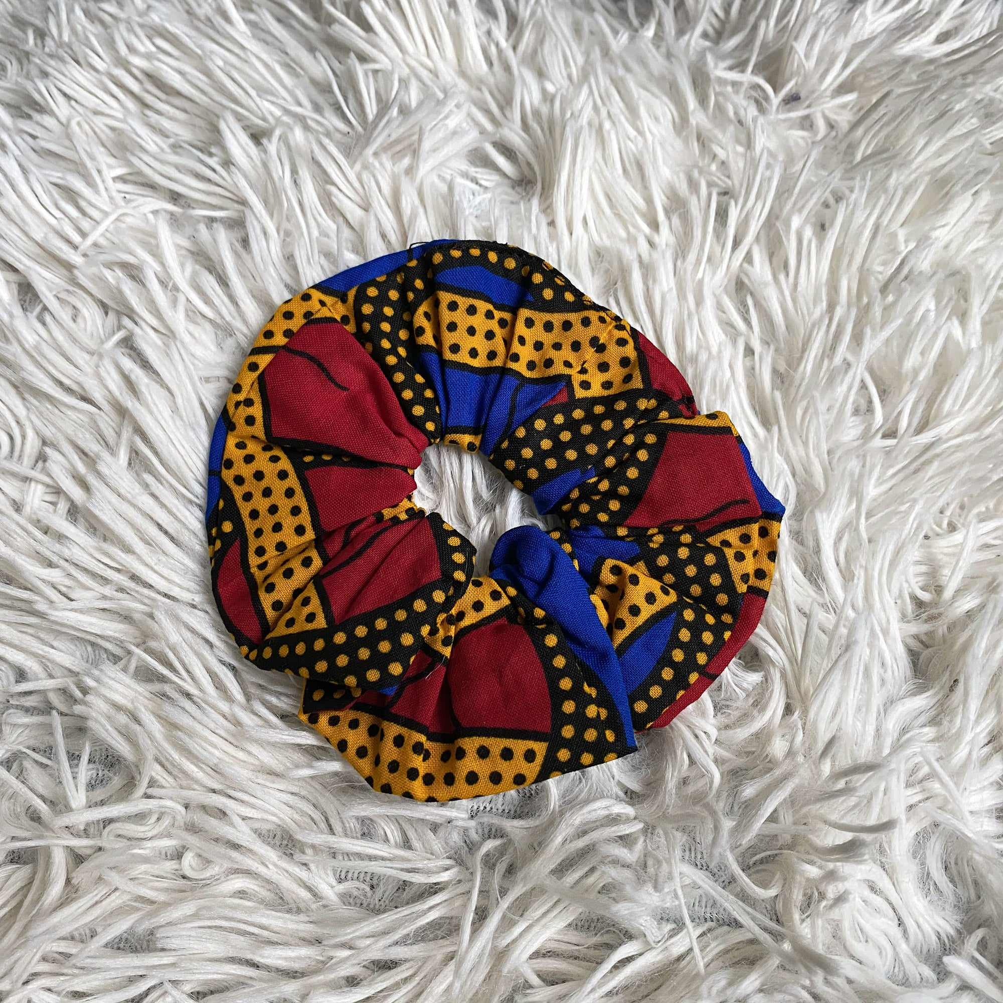 African print Scrunchie - Adults & Children Hair Accessories - Red / blue