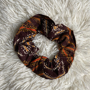 African print Scrunchie - XL Adults Hair Accessories - Brown