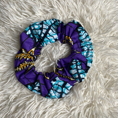 African print Scrunchie - XL Adults Hair Accessories - Blue / purple