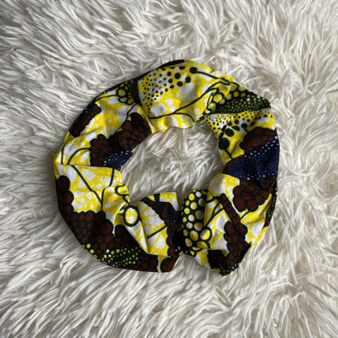 African print Scrunchie - XL Adults Hair Accessories - Yellow