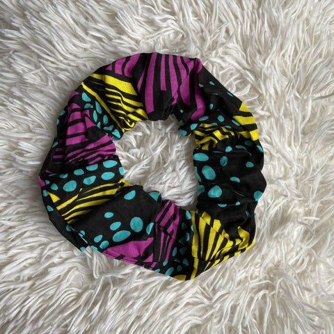 African print Scrunchie - XL Adults Hair Accessories - Multicolor