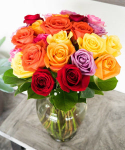 Two Dozen Mixed Color Roses - Catchup Apparel