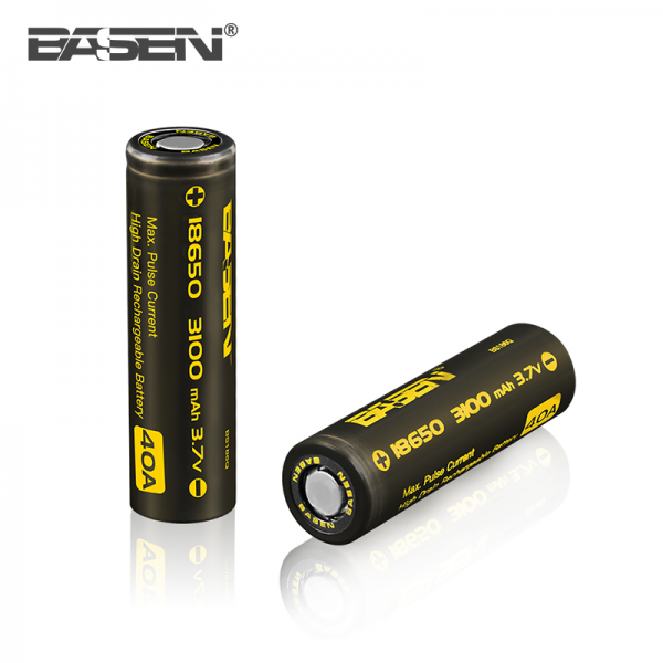 Basen 3100 mAh High Drain 40A 18650 rechargeable battery