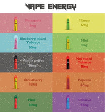 Load image into Gallery viewer, Vape Energy Disposable Pod - 10 flavour mix gift pack