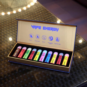 Vape Energy Disposable Pod - 10 flavour mix gift pack