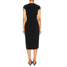 Load image into Gallery viewer, AZAD | Cap Sleeve Midi Dress in Black