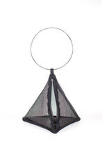 Load image into Gallery viewer, PYRAMID BAG IN BLACK MESH WITH CIRCLE METAL HANDLE