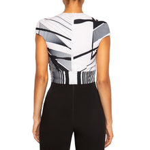 Load image into Gallery viewer, KALI | Cap Sleeve Top in Black and White Print