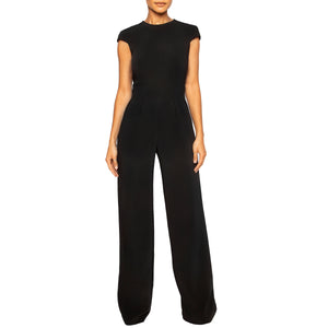 israella KOBLA wide leg jumpsuit with open back detail and pockets in black