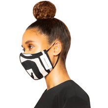 Load image into Gallery viewer, israella KOBLA black and black and white reversible cotton face mask made in canada