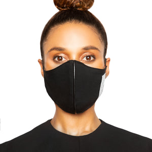 israella KOBLA black and black and white reversible cotton face mask made in canada