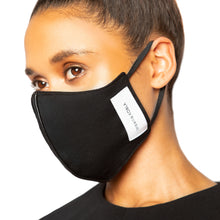 Load image into Gallery viewer, israella KOBLA black reversible cotton face mask made in canada