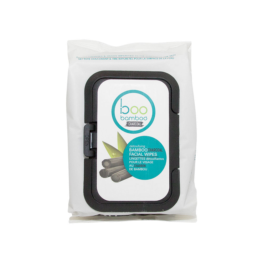 Boo Bamboo Detoxifying Charcoal Facial Wipes