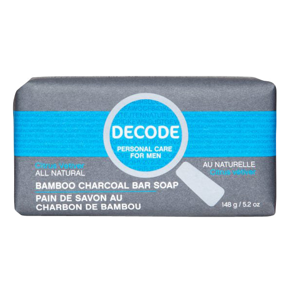 Decode Citrus Vetiver Bamboo Charcoal Bar Soap