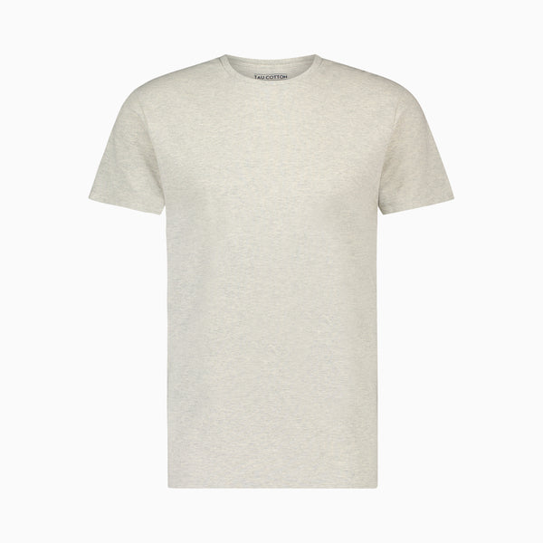 The Pique T-Shirt | Light Grey Melange