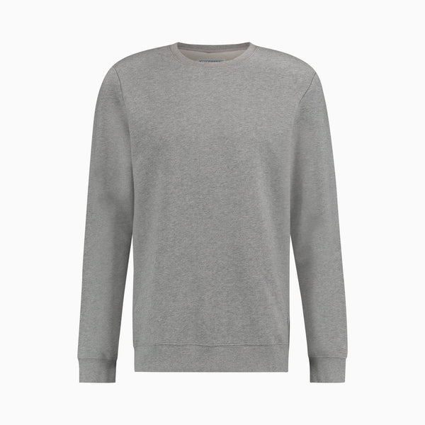 Cotton Sweatshirt | Light Grey Melange