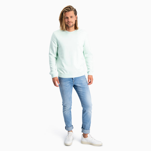 Cotton Sweatshirt | Mint Green Melange