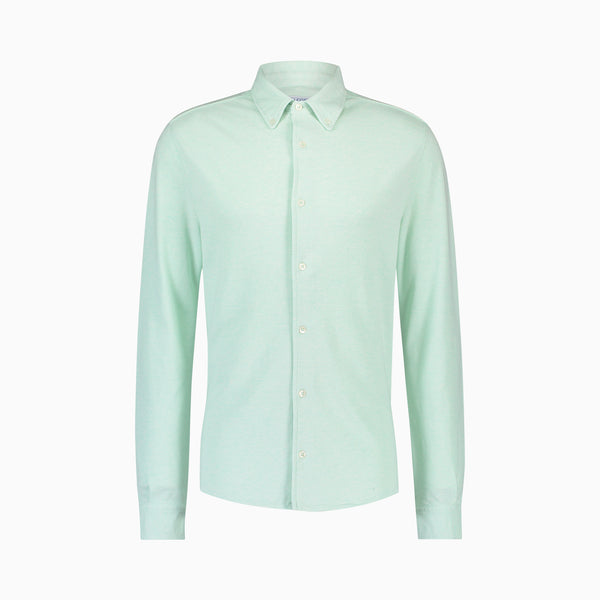 The Pique Shirt | Mint Green Melange