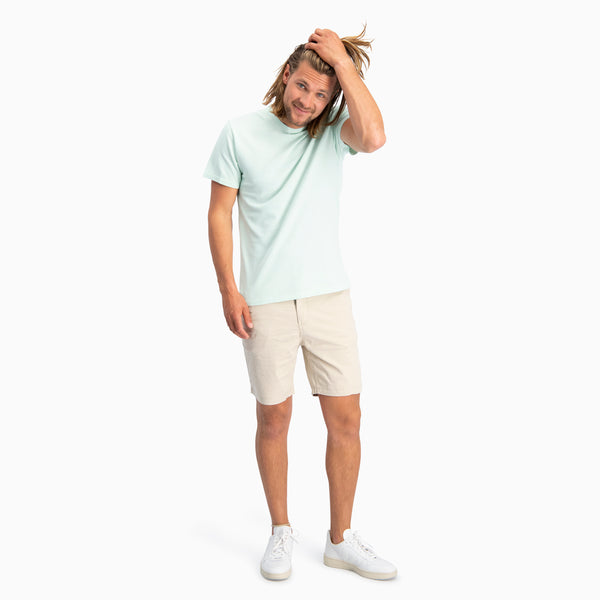 The Pique T-Shirt | Mint Green Melange