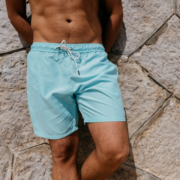 Tau Cotton - The Swim Trunks in Turquoise