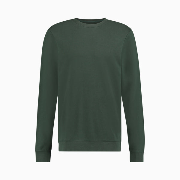 "Cotton Sweatshirt <span class=""color_break"">Forest Green</span>"