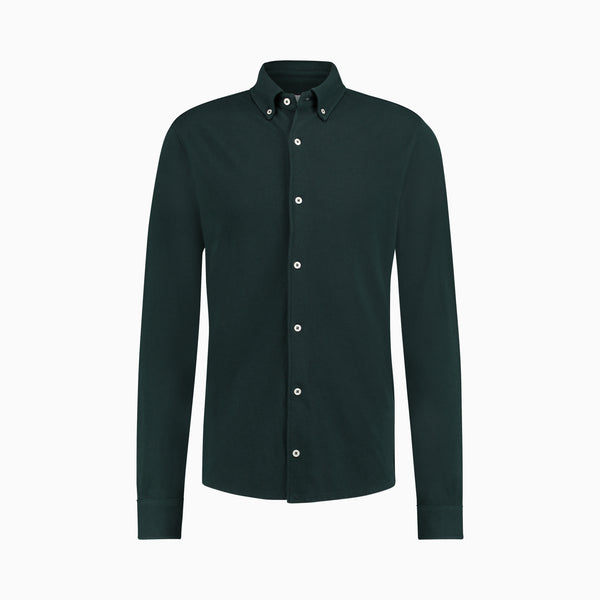 The Pique Shirt | Pine Green