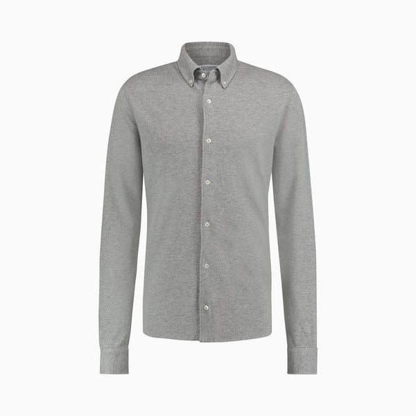 The Pique Shirt | Light Grey Melange