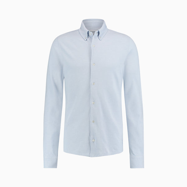 The Pique Shirt | Light Blue Melange