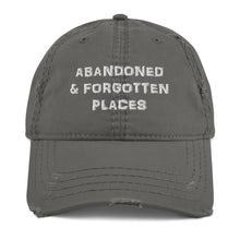 "Load image into Gallery viewer, ""Distressed"" Abandoned & Forgotten Places Logo Hat"