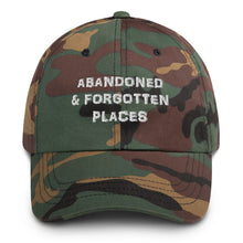 "Load image into Gallery viewer, ""Not so Distressed"" Abandoned & Forgotten Places Logo Hat"