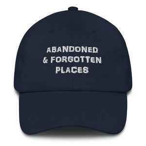 """Not so Distressed"" Abandoned & Forgotten Places Logo Hat"