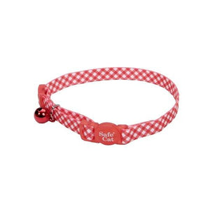 Coastal Adjustable Safe Cat Fashion Collar 8-12IN Breakaway Checkered