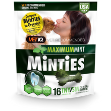 Load image into Gallery viewer, Minties Maximum Mint Tiny/Small Dental Chews