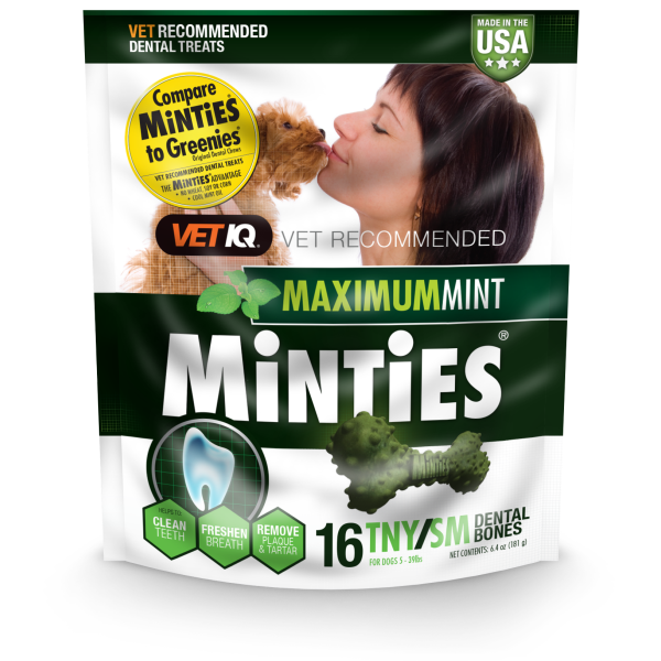 Minties Maximum Mint Tiny/Small Dental Chews