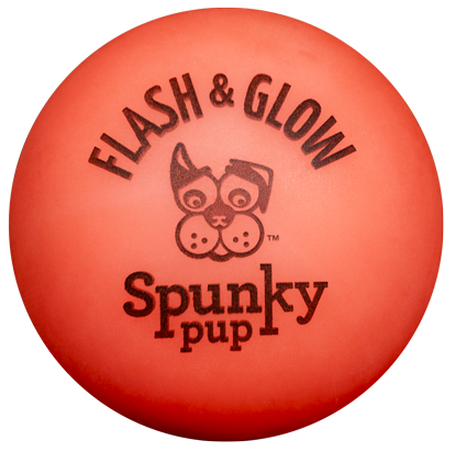 Spunky Flash & Glow Ball Dog Toy