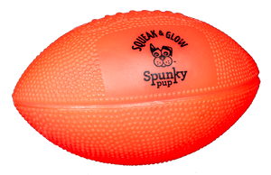 Spunky Squeak & Glow Football Dog Toy