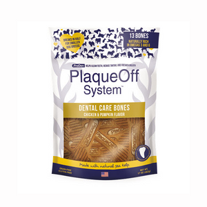 PlaqueOff Dental Care Bones Chicken and Pumpkin 482g
